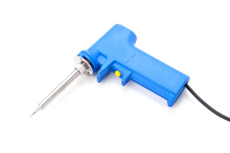 soldering: Soldering Gun Shape Placed on a isolated white background.