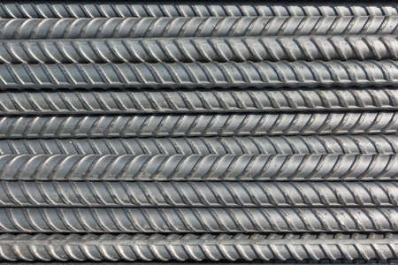 The steel deform bars placed on the floor in the construction site Stock Photo