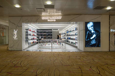 laurent: Singapore - July 31: A Saint Laurent outlet, July 31,2016, Changi International airport, Singapore. Editorial