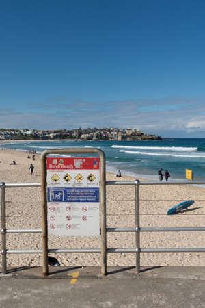 SYDNEY, AUSTRALIA - AUG 8, 2016 : Bondi Beach in Australia with too many tourist. Editorial