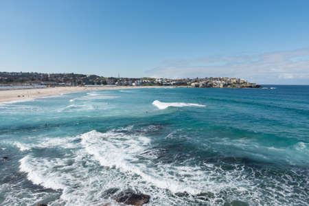 Bondi beach in sunny day. Sydney, Australia. Stock Photo