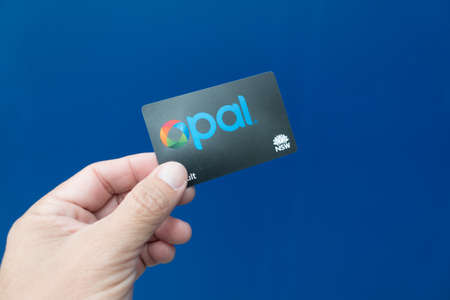 Sydney, Australia. - August 8, 2016. - Opal card can used with every Sydneys railway station.