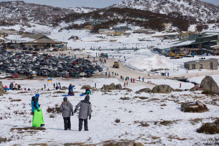 THREDBO, AUSTRALIA : AUG 6, 2016. Thredbo is a village and ski resort in the Snowy Mountains of New South Wales, Australia