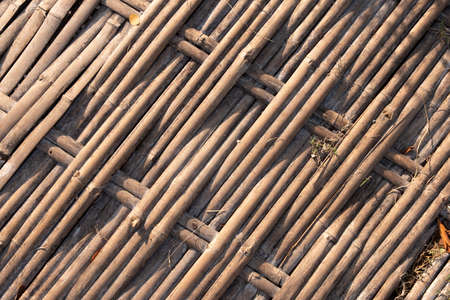 Weave bamboo on floor