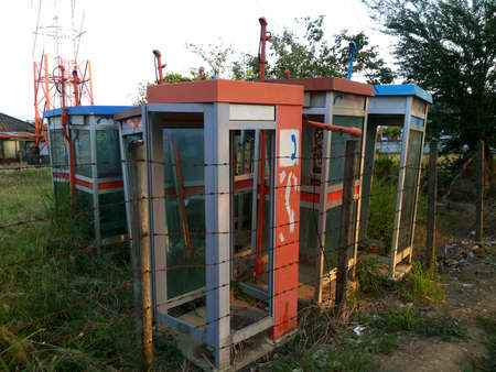 phonebooth: Telephone booth into canceled,Thailand Stock Photo