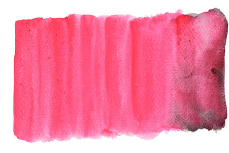 Watercolor stroke and spray on white paper , Abstract background by hand drawn pink color liquid drip isolated on white background