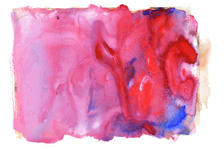 Blue with purple and white color stains flow on pink surface , Abstract background and illustration from acrylic color painting isolated on white background