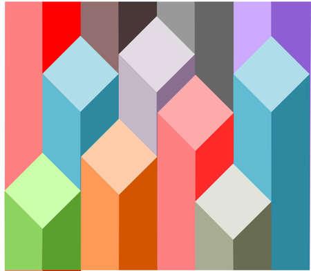 Isometric diagram chart bars vector illustration Illustration
