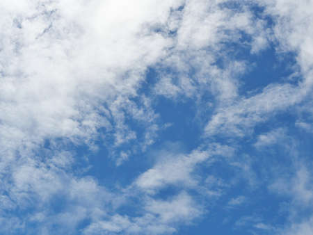 Altocumulus cloud on beautiful blue sky , Fluffy clouds formations at tropical zone Banque d'images