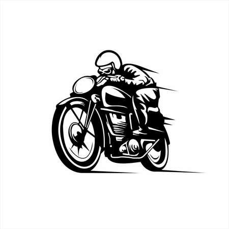 vintage racer illustration isolated on white background