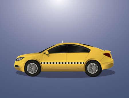 motor de carro: Taxi amarillo del coche (icono, ilustraci�n)