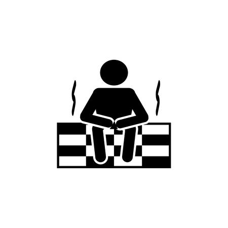 man in the sauna icon. Bathroom and sauna element icon. Premium quality graphic design. Signs, outline symbols collection icon for websites, web design, mobile app, info graphics on white background
