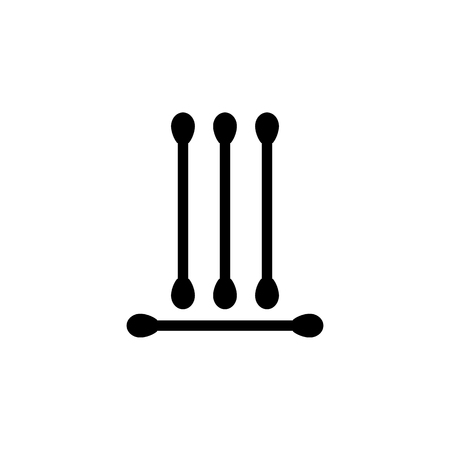 eared sticks icon. Bathroom and sauna element icon. Premium quality graphic design. Signs, outline symbols collection icon for websites, web design, mobile app, info graphics on white background