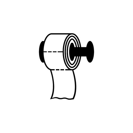 toilet paper icon. Bathroom and sauna element icon. Premium quality graphic design. Signs, outline symbols collection icon for websites, web design, mobile app, info graphics on white background