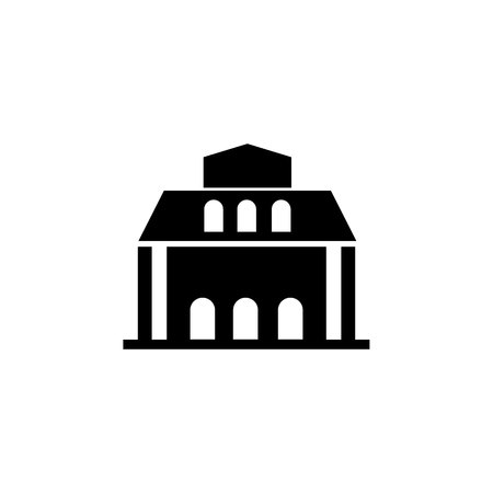 library building icon on white background Illustration