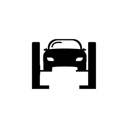 Car lifted icon on white background