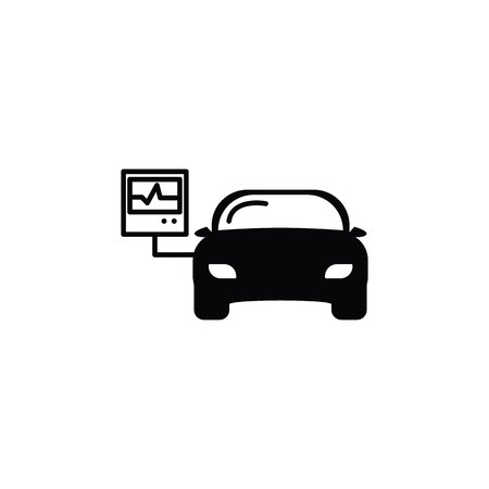 Car diagnostics icon on white background Иллюстрация