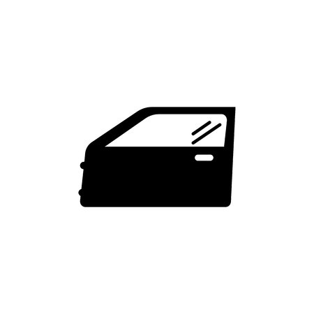 car door icon on white background