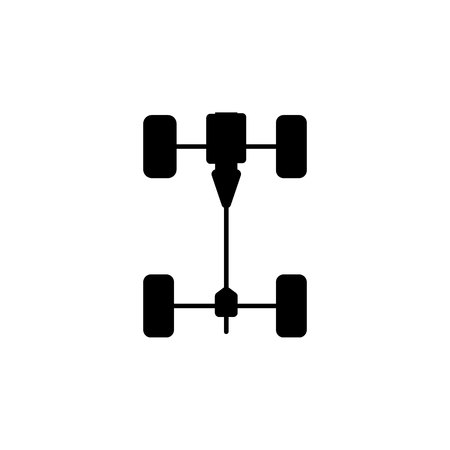 Chassis car icon on white background 向量圖像