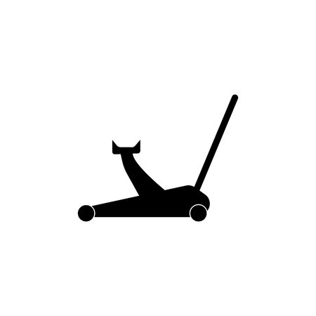 Car jack icon on white background