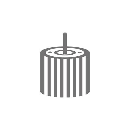 Car oil filter icon on white background