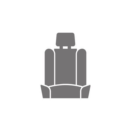 Car seat icon on white background