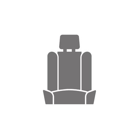 Car seat icon on white background