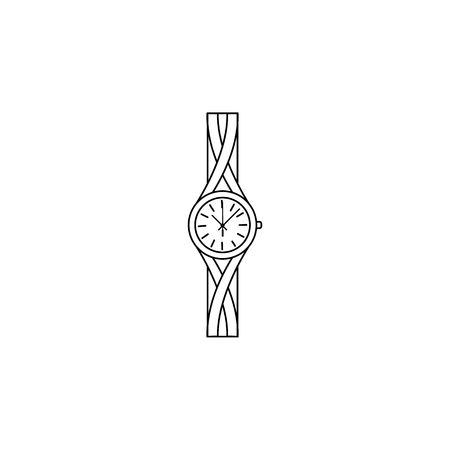 Jewelry Analog Women Wrist Watch line icon. Clock Icon. Premium quality graphic design. Signs, symbols collection, simple icon for websites, web design, mobile app on white background
