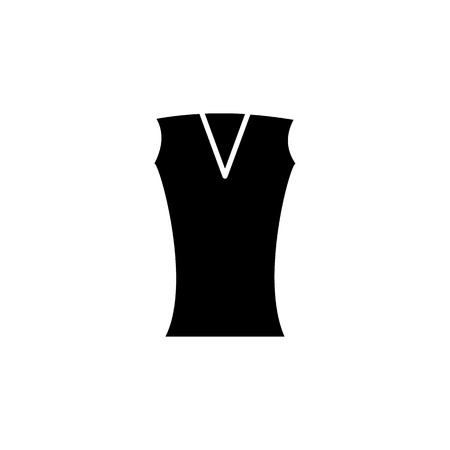 Women vest icon on white background Illustration