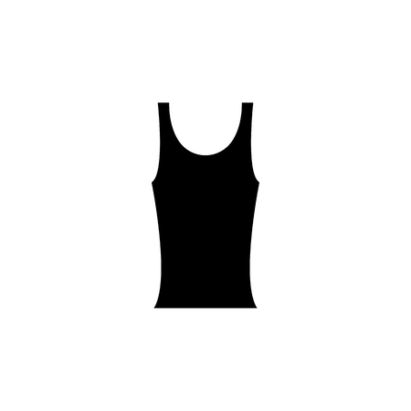 black tank t-shirt for women's icon on white background Illustration