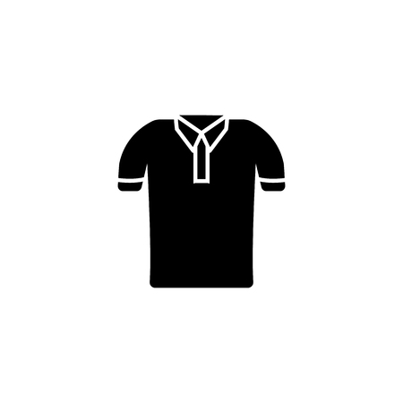 Polo shirt icon on white background Illustration