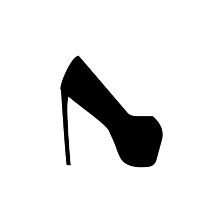 platform shoes icon on white background 일러스트