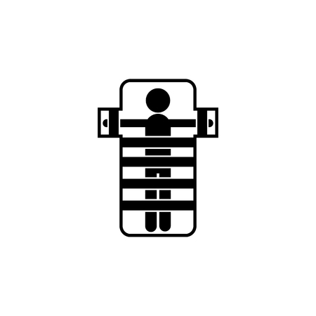 mental hospital bed icon on white background