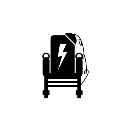 Electric Chairs icon on white background Illustration