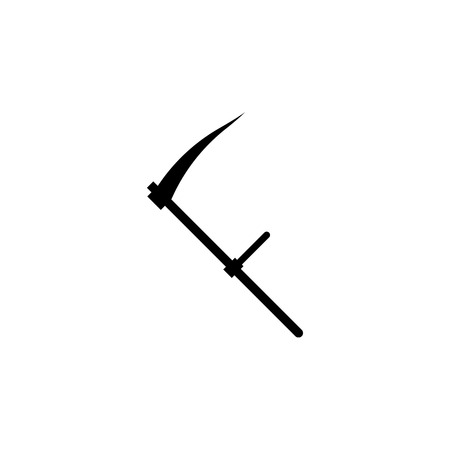 Scythe vector icon on white background Illustration