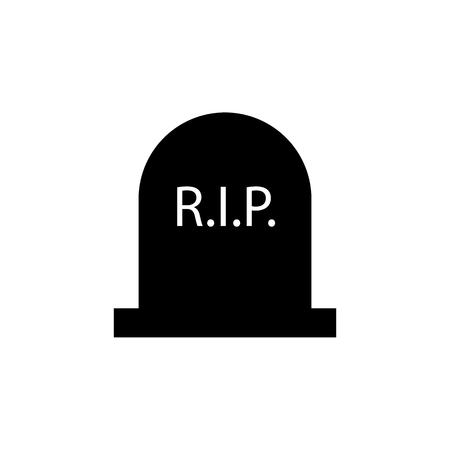 Tombstone vector icon on white background