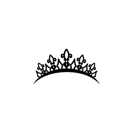 Diadem icon, premium quality graphic design icon. Baby signs, outline symbols collection icon for websites, web design, mobile on white background.  イラスト・ベクター素材