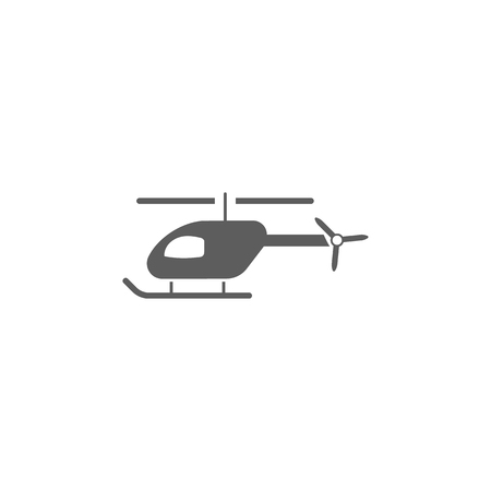 Helicopter icon, elements of a controlled aircraft icon. Premium quality graphic design. Signs, outline symbols collection icon for websites, web design, mobile app on white background.