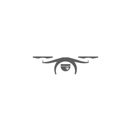 Elements of a controlled aircraft icon, drone with camera icon. Premium quality graphic design. Signs, outline symbols collection icon for websites, web design, mobile app on white background.