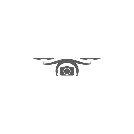 Elements of a controlled aircraft icon, drone with camera icon. Premium quality graphic design. Signs, outline symbols collection icon for websites, web design, mobile on white background.