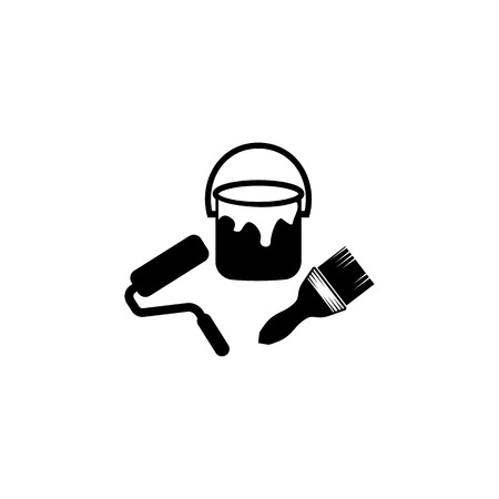 Paint brush icon. Elements of constraction icon. Premium quality graphic design. Signs and symbols collection icon for websites, web design, mobile app on white background