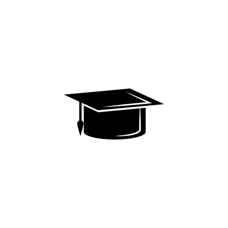 Graduation cap icon. Vector graduation Icon. Education, academic degree. Premium quality graphic design. Signs, outline symbols collection, simple icon for websites, web design, mobile app on white background