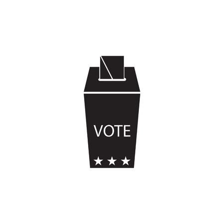 Ballot box icon. Election element icon. Premium quality graphic design. Signs, outline symbols collection icon for websites, web design, mobile app, info graphic on white background.  イラスト・ベクター素材