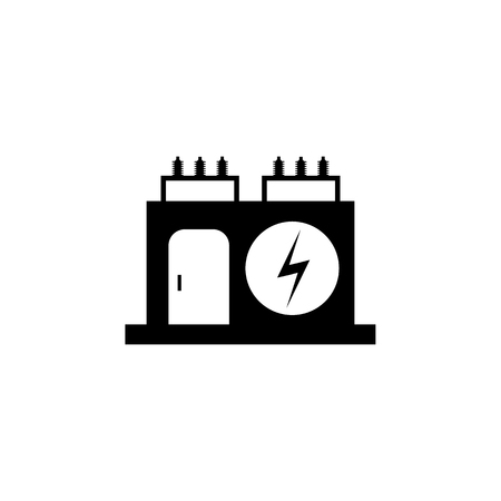 Electric transformer icon, vector illustration.