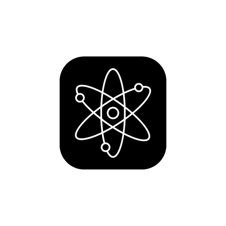 Atom icon on white background. Illustration