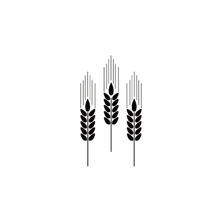 spikes of wheat icon. Element of farm for mobile concept and web apps. Icon for website design and development, app development. Premium icon on white background