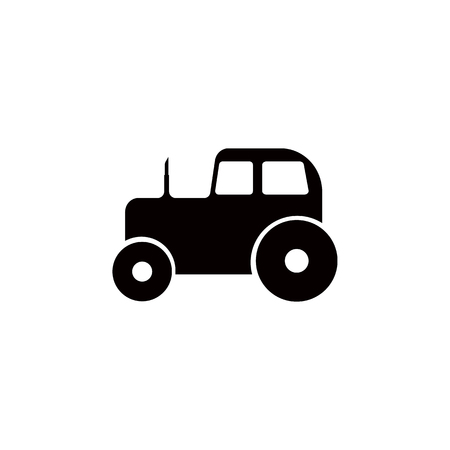 A tractor icon isolated on white background