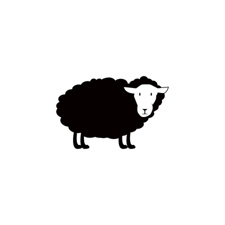 Sheep vector icon.