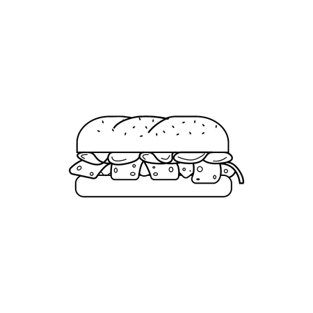 Element of fast food for mobile concept and web apps. Thin line icon for website design and development, app development. Premium icon on white background