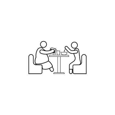 Appetite of a fat person  vector icon. Vettoriali